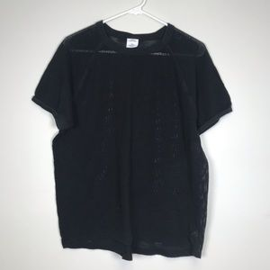 Urban Outfitters Black Fishnet Tee